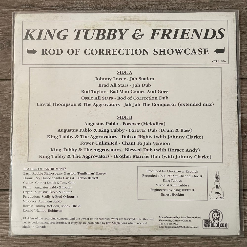 Image of King Tubby & Friends - The Rod of Correction Showcase Vinyl LP