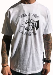 """Image of BROTHERS BOARDS """"SUPPORT"""" TEE WHITE"""