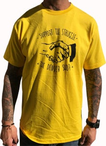 """Image of BROTHERS BOARDS """"SUPPORT"""" TEE YELLOW"""