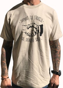 """Image of BROTHERS BOARDS """"SUPPORT"""" TEE TAN"""