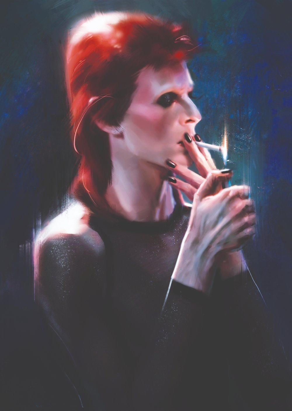 'Cigarette' Art Print by Eftristesse