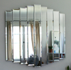 Cascading Nine Panel Tiered Wall Mirror