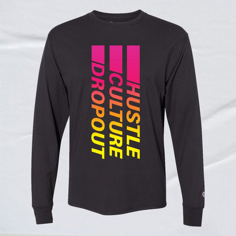 Image of HUSTLE CULTURE DROPOUT LONG-SLEEVE TEE