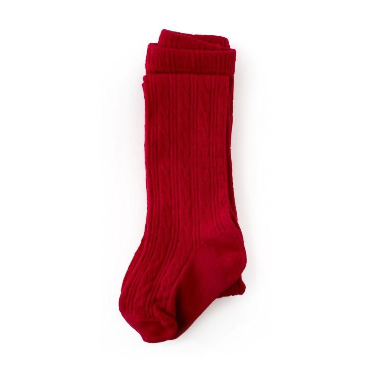 Image of True Red Cable Knit Socks