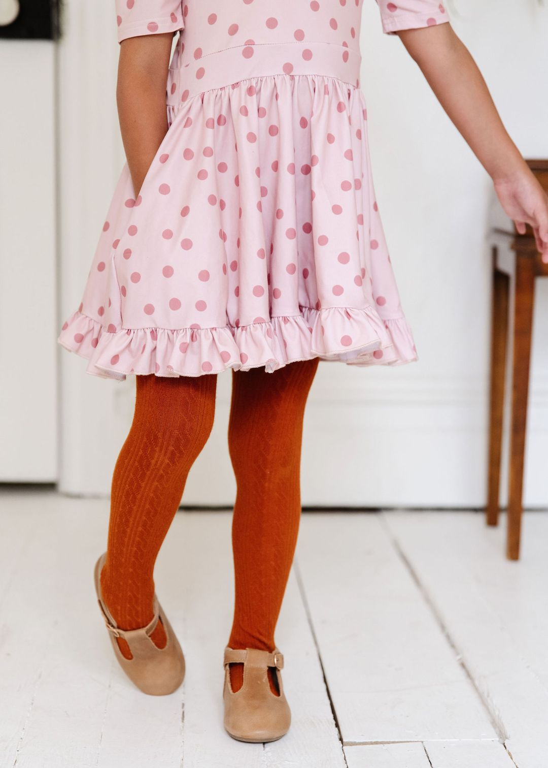 Image of Pumpkin Spice Cable Knit Tights