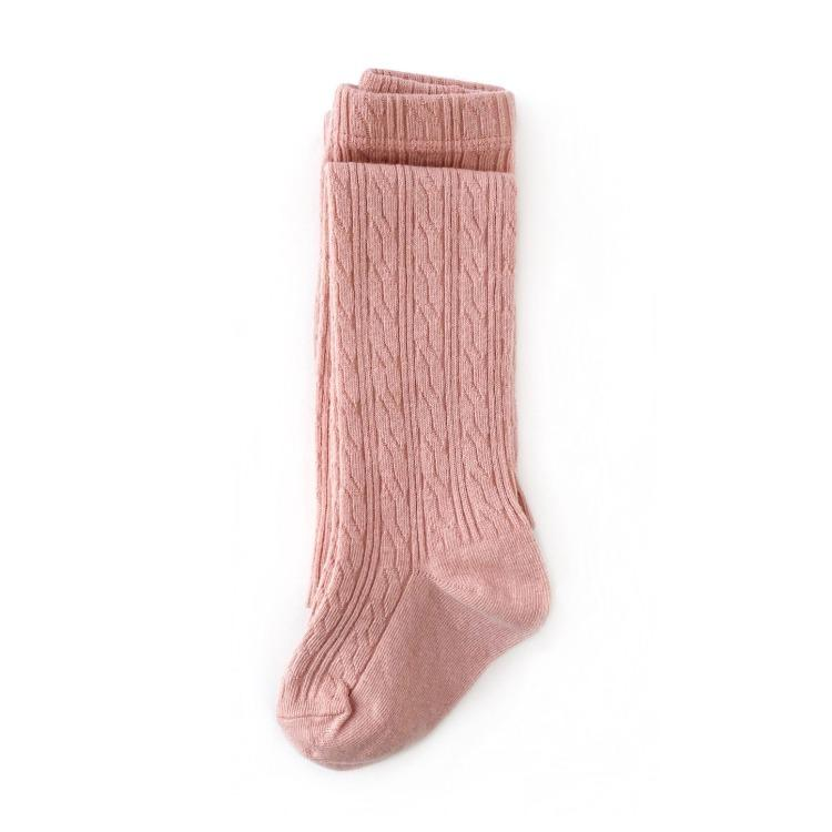 Image of Blush Pink Cable Knit Socks