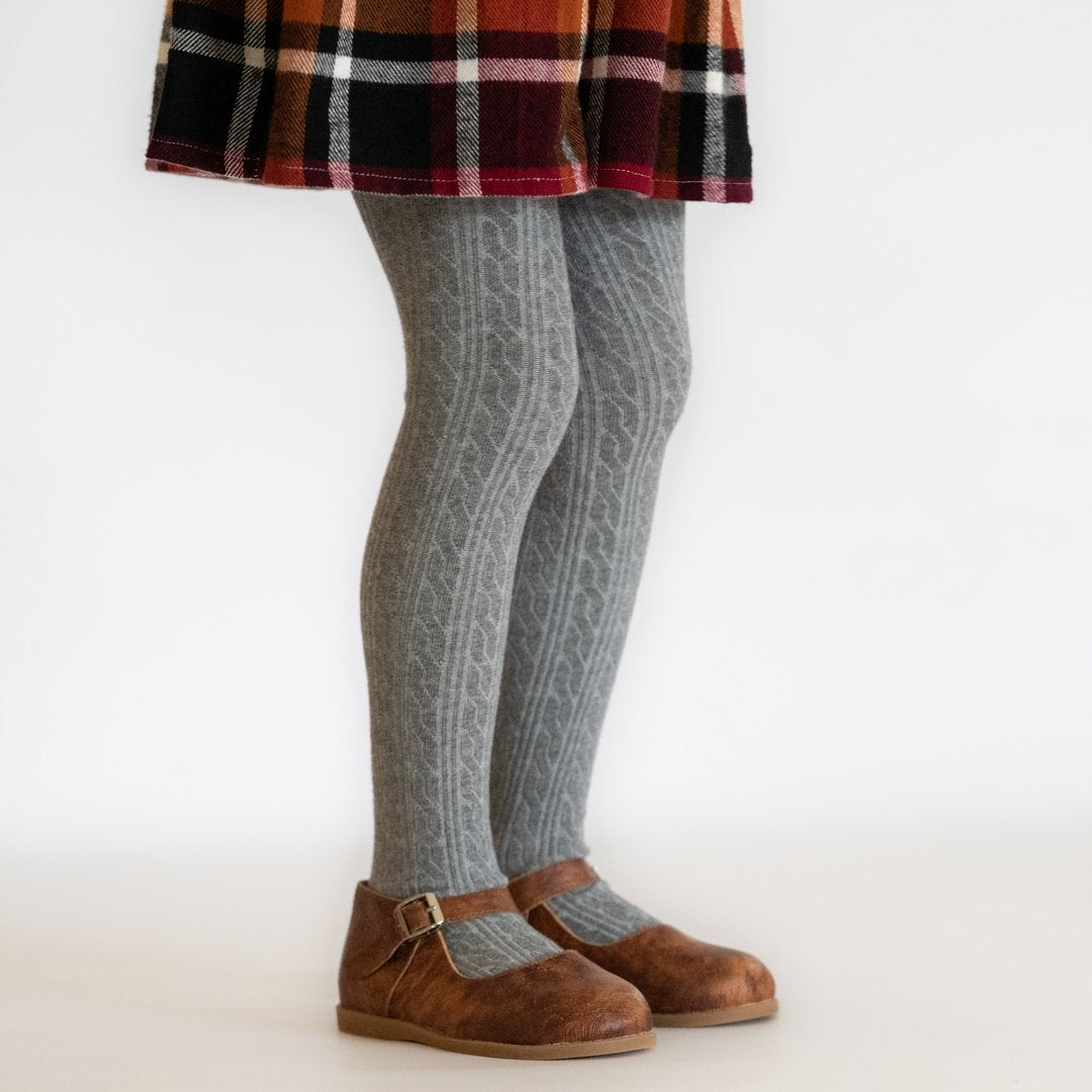 Image of Gray Cable Knit Socks