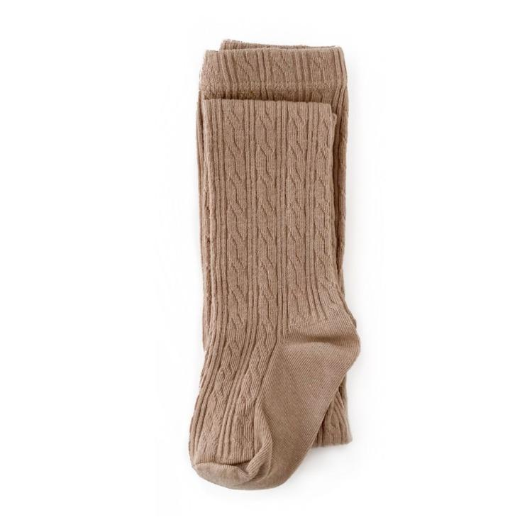 Image of Oat Cable Knit Tights