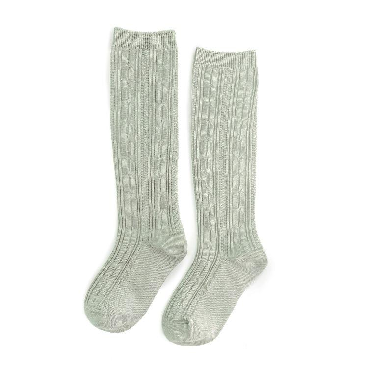Image of Sage Cable Knit Knee Highs