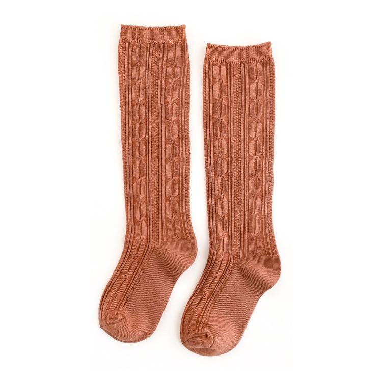 Image of Marmalade Cable Knit Knee Highs