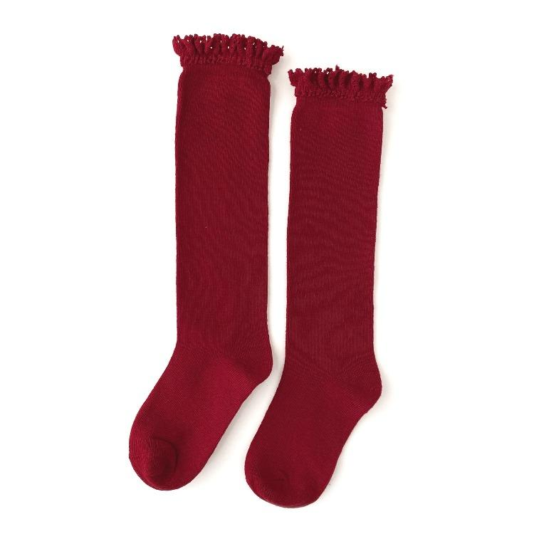 Image of Cherry Lace Top Knee Highs