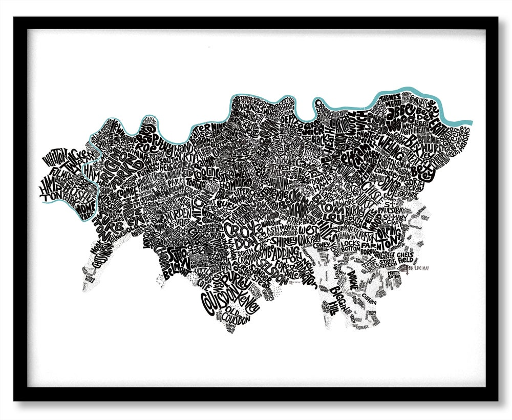 Image of South London Type Map - All Boroughs