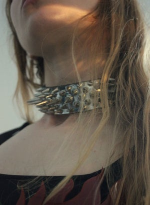 Image of HEAVY METAL SPIKED CHOKER (One Size)
