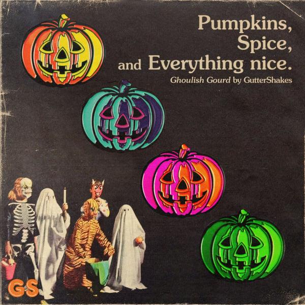 Image of Ghoulish Gourd Enamel Pin