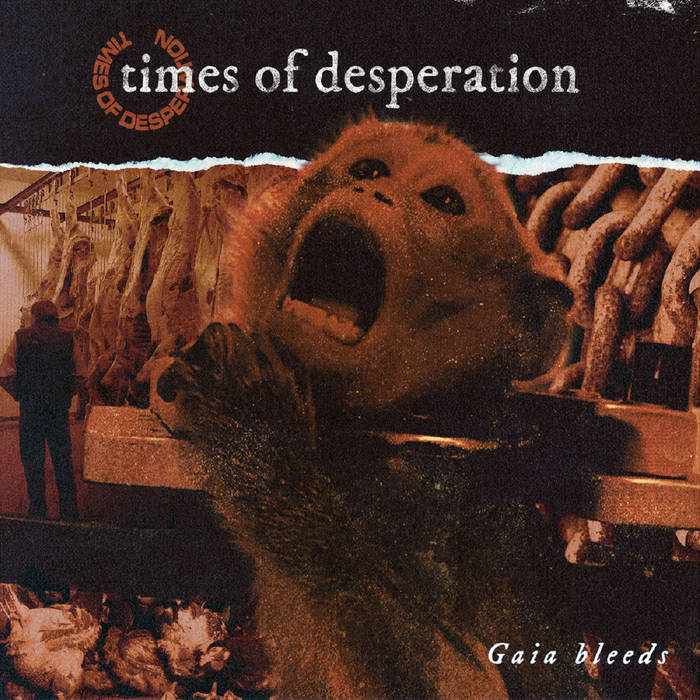 """Image of Times Of Desperation """"Gaia Bleeds"""" 7″"""