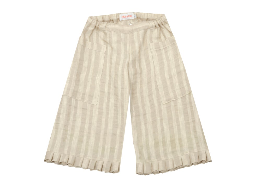 Image of MAXI PANT linen striped