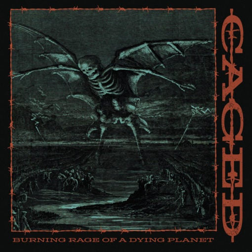 """Image of Caged """"Burning Rage Of A Dying Planet"""" 7″"""