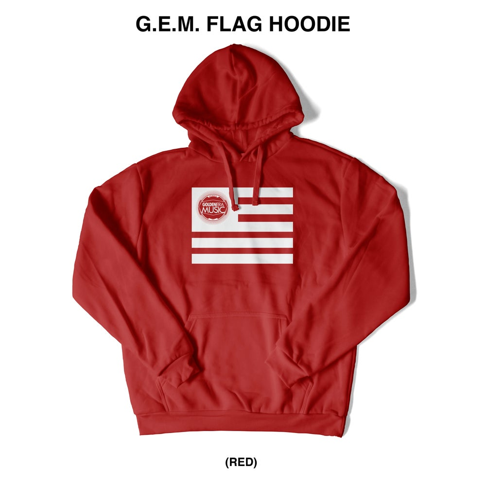 Image of G.E.M. FLAG MID WEIGHT HOODIE