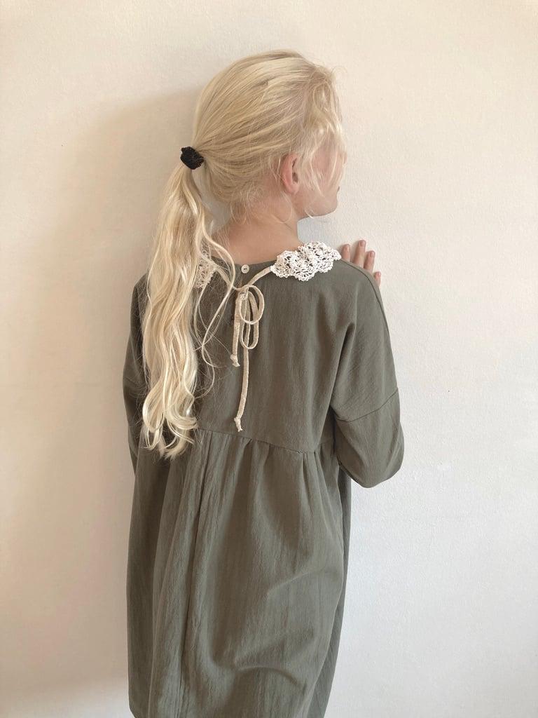 Rosa Dress- olive washed cotton