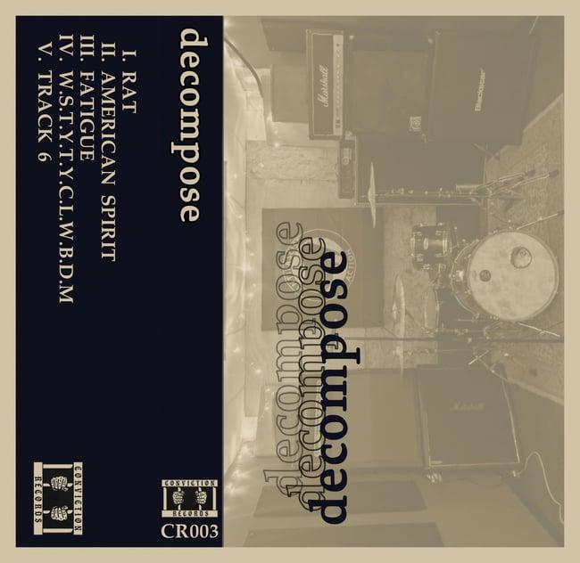 "Image of Decompose ""S/T"" Cassette"