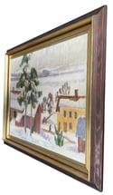 20th century Swedish School 'Winter Townscape'