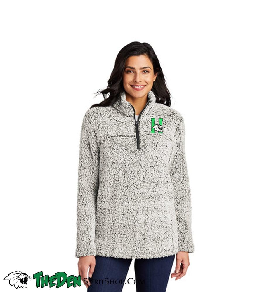 Image of Women's Sherpa 1/4 Zip, Grey