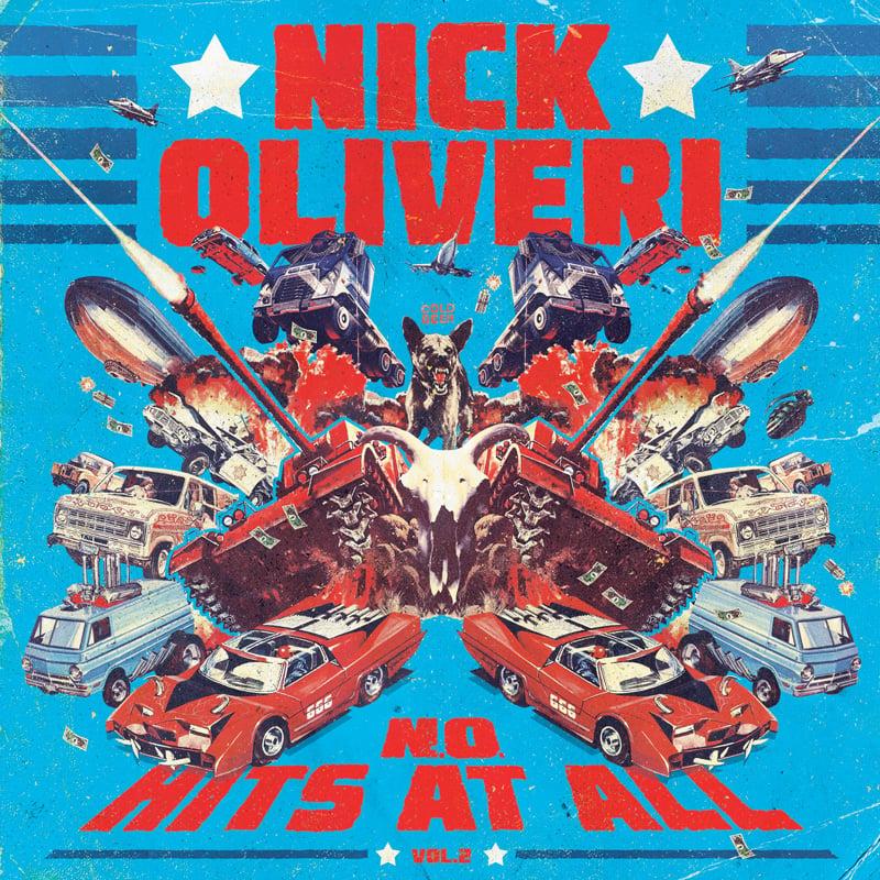 Image of NICK OLIVERI N.O. HITS AT ALL - VOL.2 LTD SPLATTER VINYL