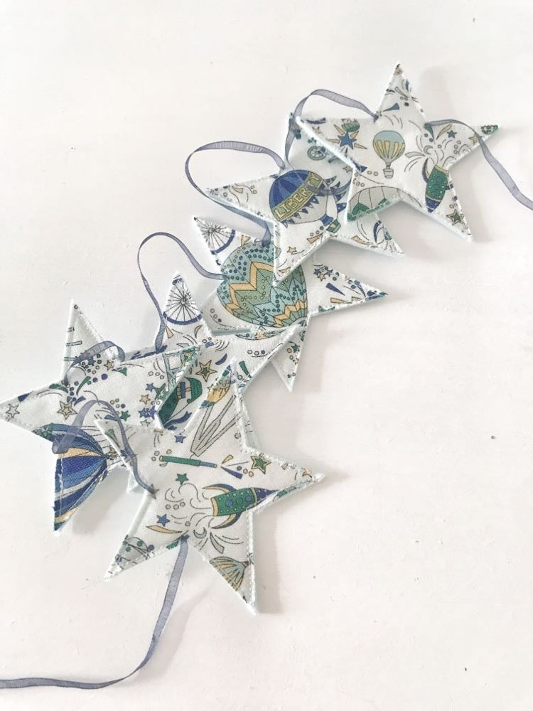 Image of Liberty Fabric Star Bunting - Can be Personalised