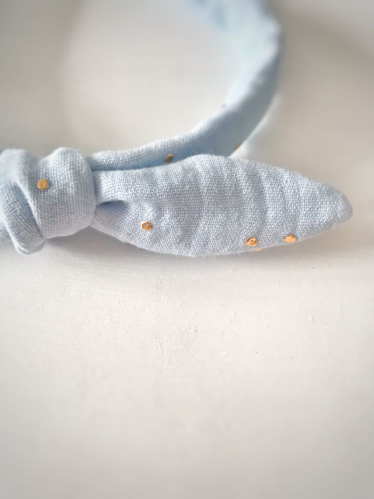 Image of Golden Dot Alice Bands with Knotted Bows