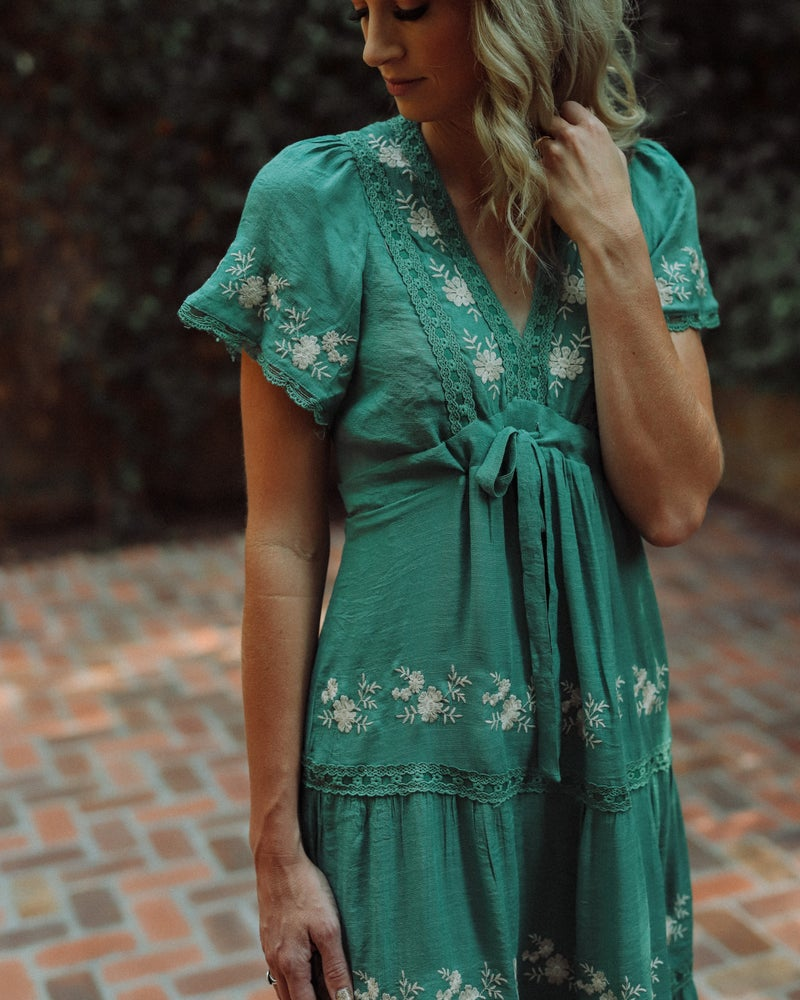 Image of BAILEE EMBROIDERED DRESS