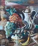 Jules Schyl (1893-1977) Swedish School 'Still Life with Pineapple'
