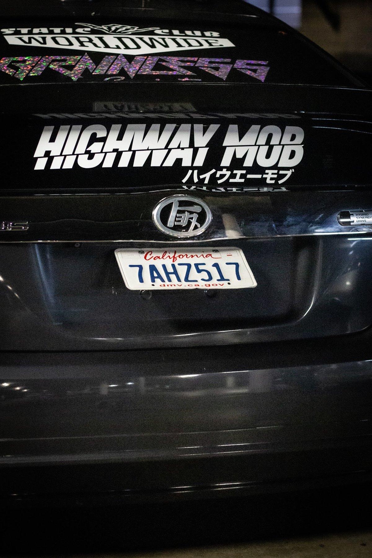 Tilted Licence Plate Bracket