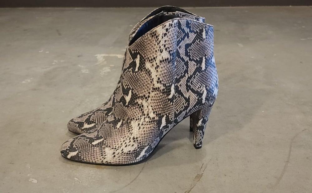Image of Halogen Snake Print Booties