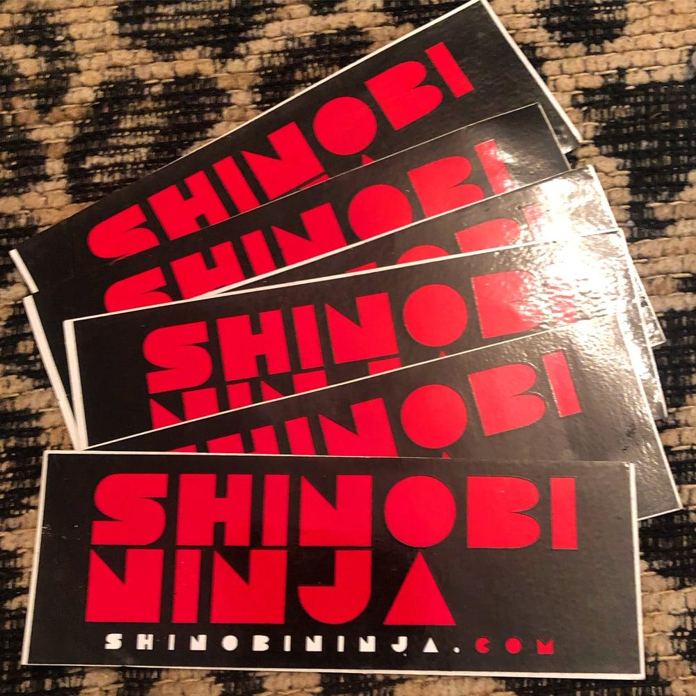 Image of Shinobi Ninja Vinyl Stickers First Ever Made!