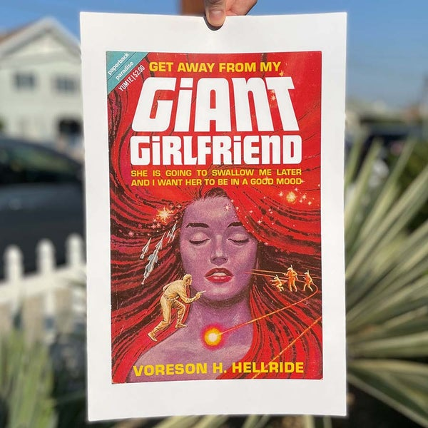 Image of Get Away From My Giant Girlfriend - 11 x 17 Print