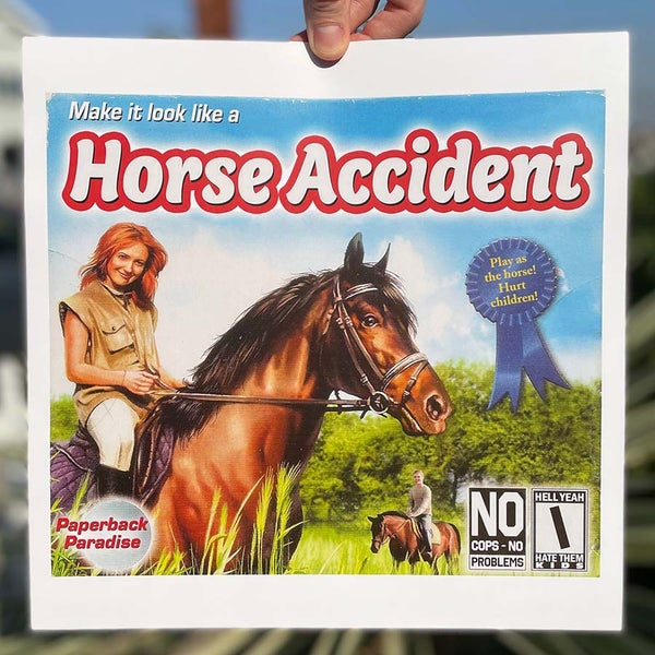 Image of Horse Accident - 12 x 12 Print