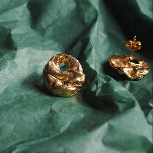 22ct Gold Plated Uisce Buoy Earrings