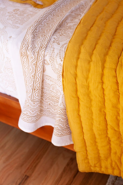 Image of Solid Ochre Quilt