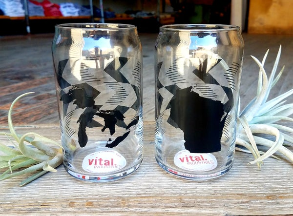 Image of Chevron Can Glasses by Vital Industries