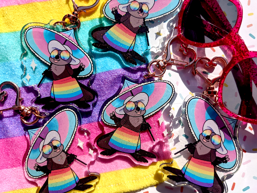 Image of Pride Otter Keychain