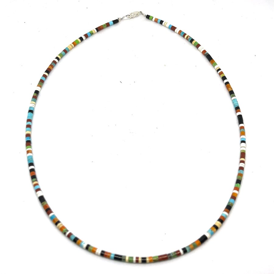 Image of Santo Domingo Heishi Necklace (Earth Mix)