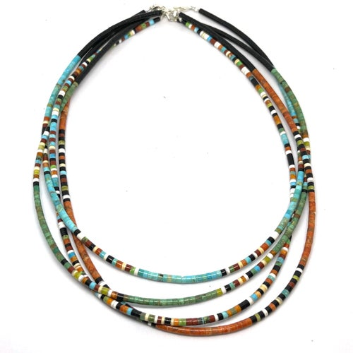 Image of Santo Domingo Heishi Necklace (Apple)