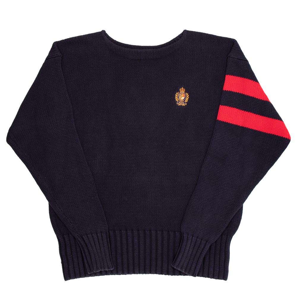Image of Vintage Polo Ralph Lauren Crest Cotton Knit (XL)