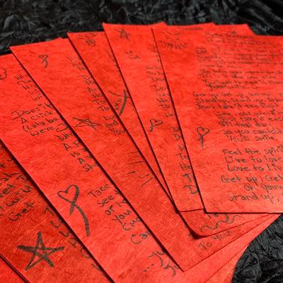 Image of Handwritten Lyric Sheets