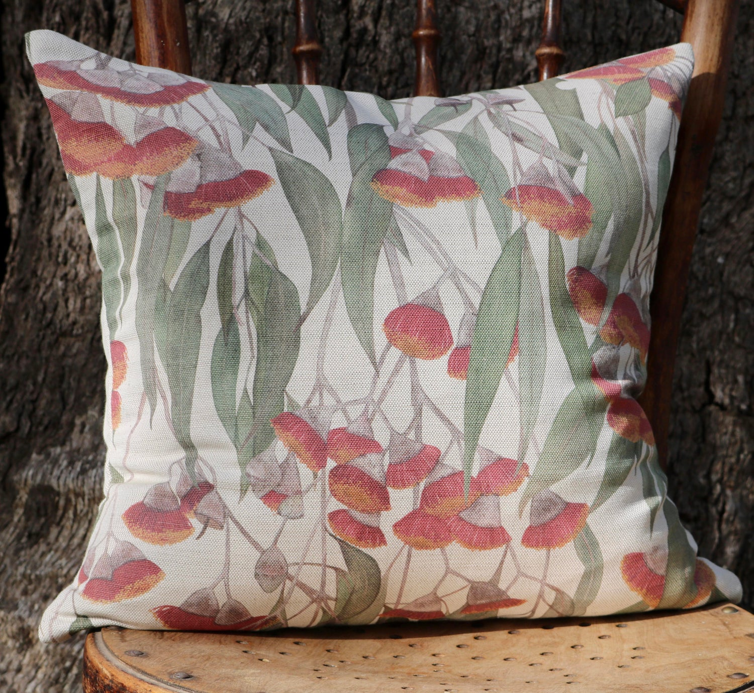 Image of Silver Princess Blossoms Cushion Cover