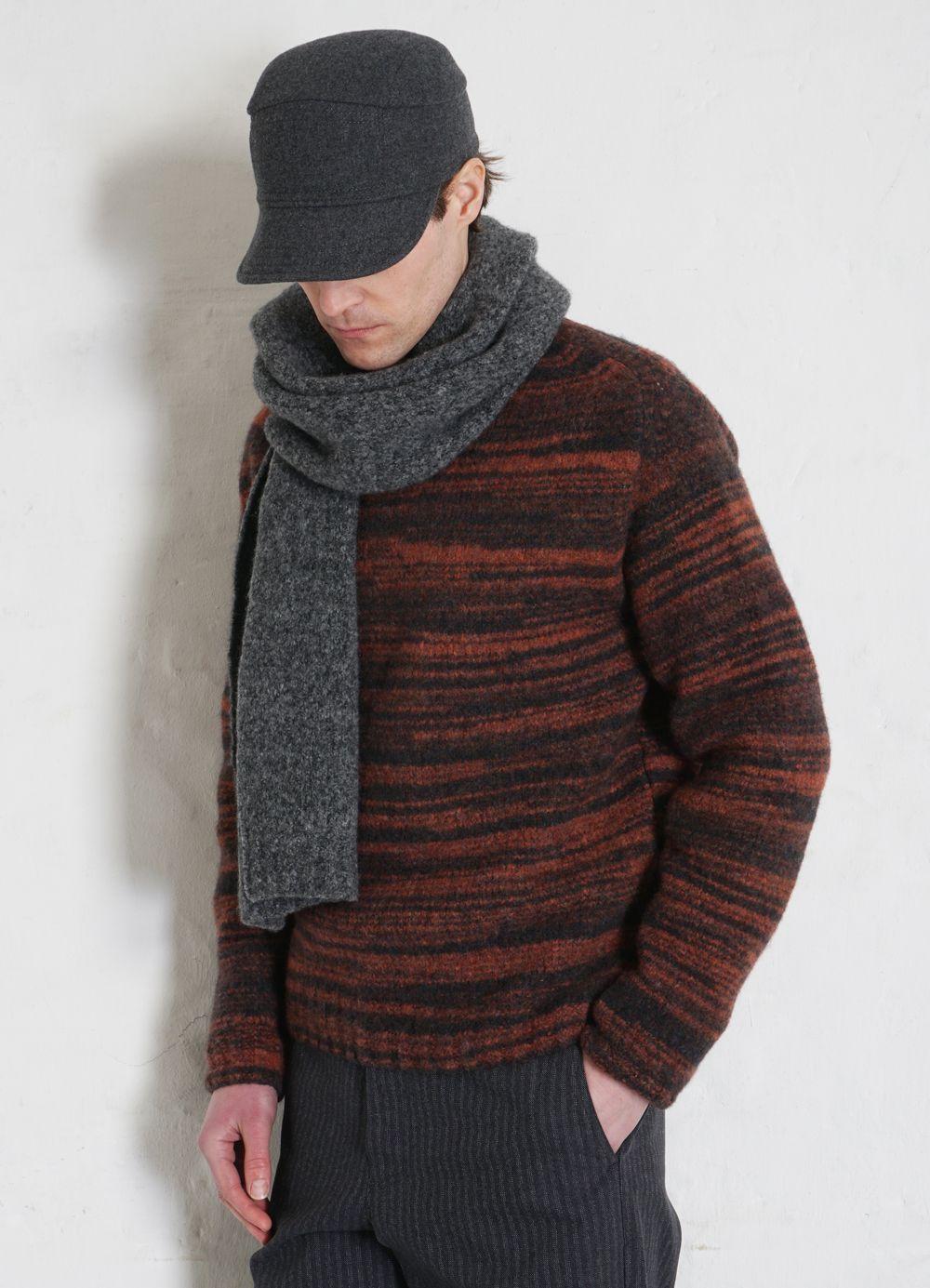 Hansen Garments ESKILD   Mechanics Cap With Earflaps   grey melange, navy