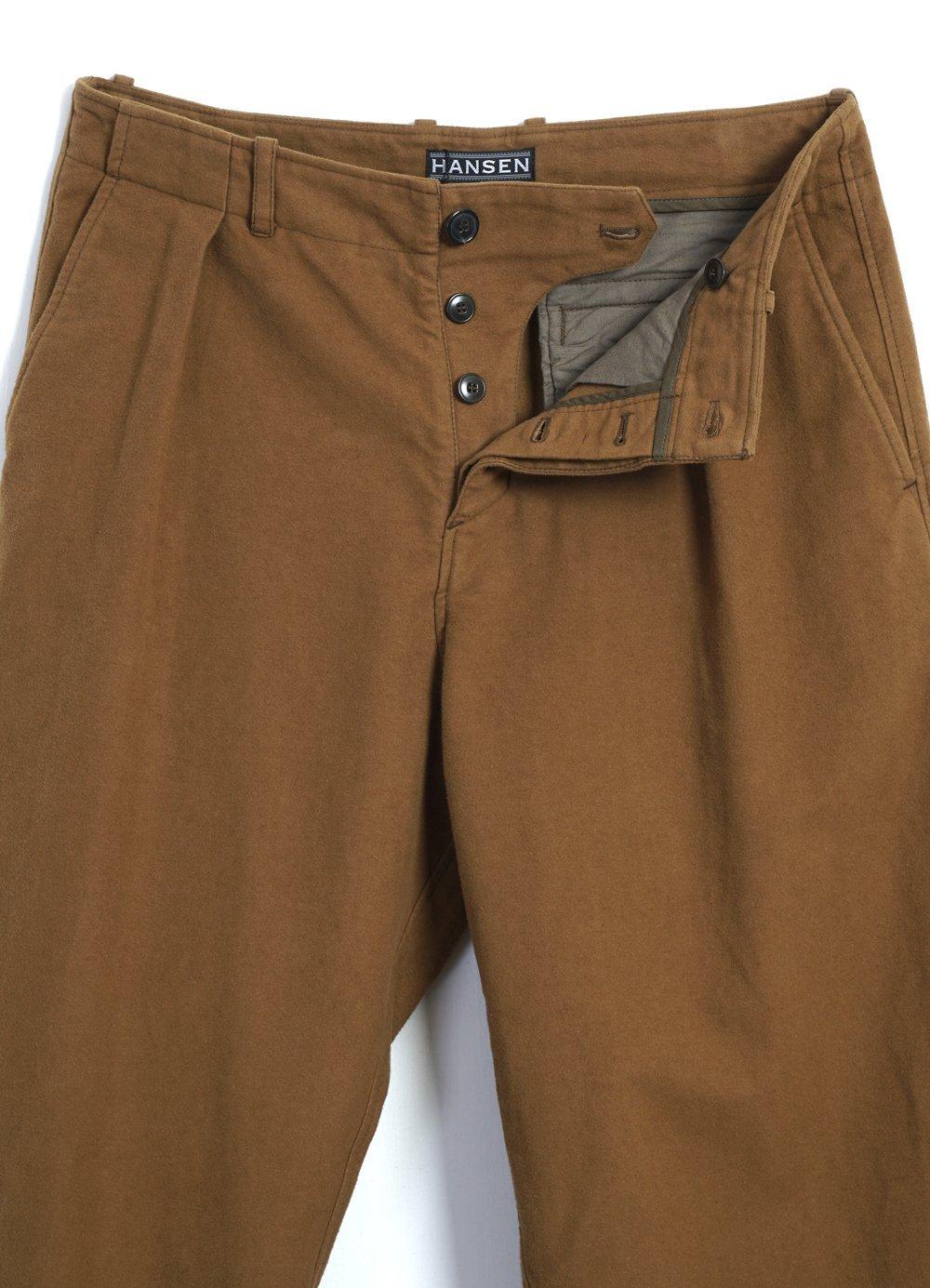 Hansen Garments BOBBY   Super Wide Pleated Trousers   turmeric