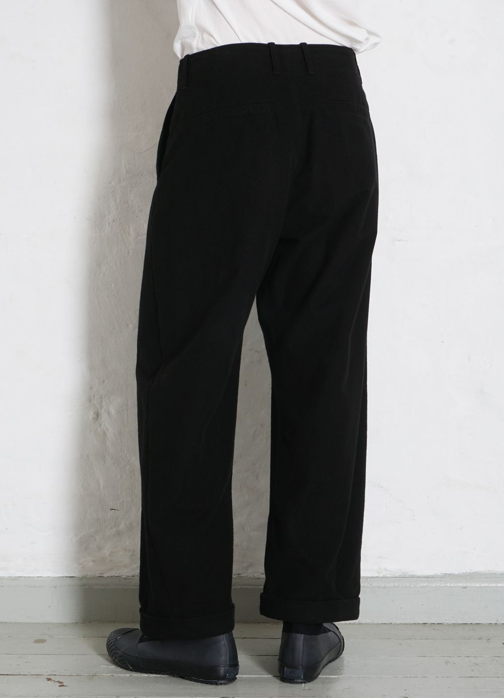 Hansen Garments BOBBY | Super Wide Pleated Trousers | black