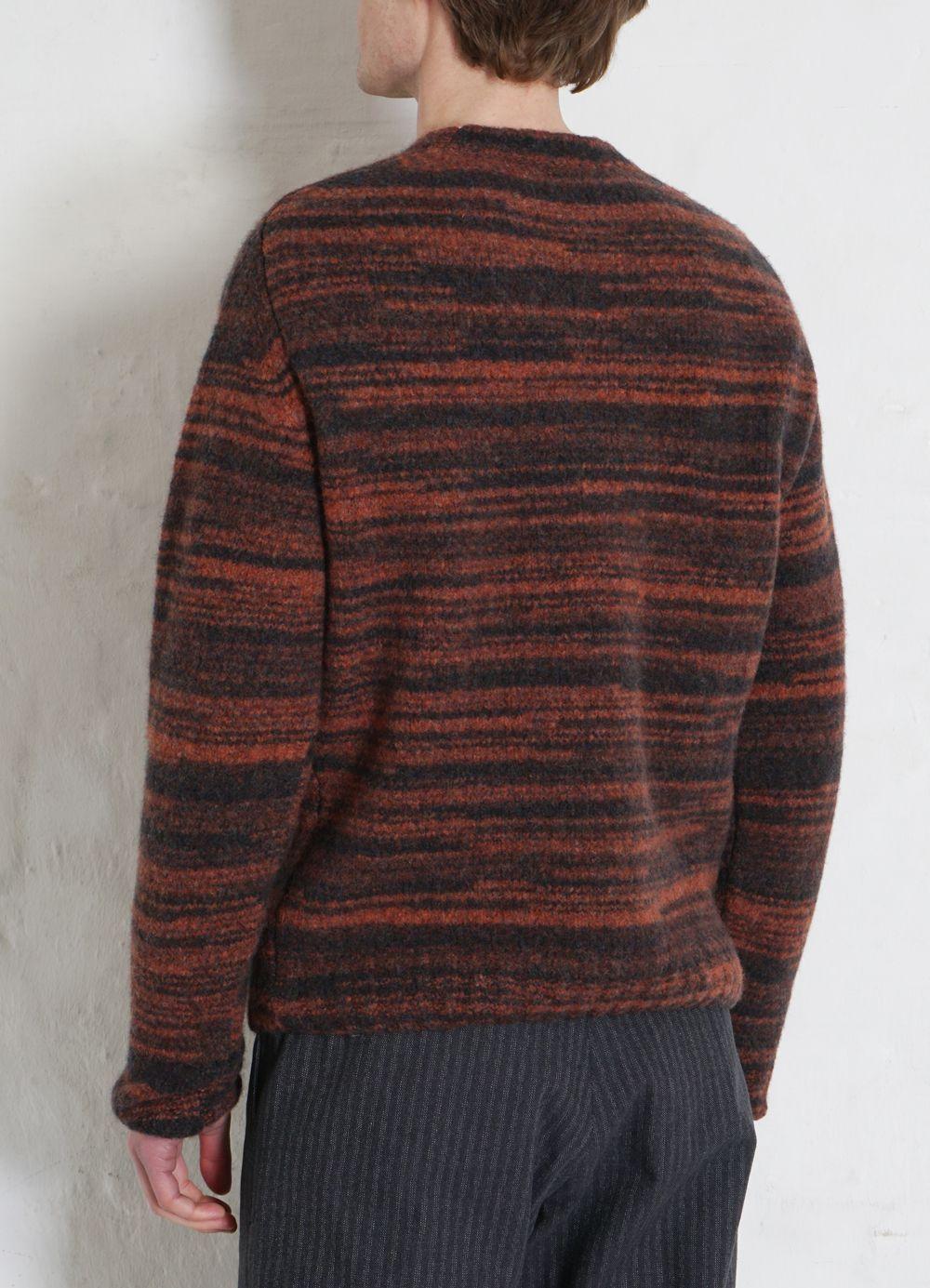 Hansen Garments LEONARD   Knitted Crew Neck Sweater   bonfire