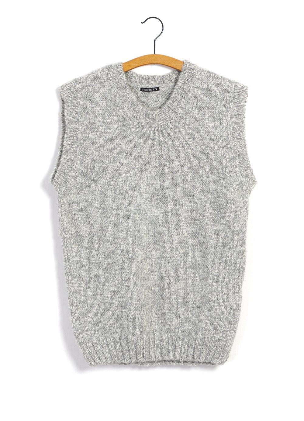 Hansen Garments MOGENS | Knitted Crew Neck Vest | smoke